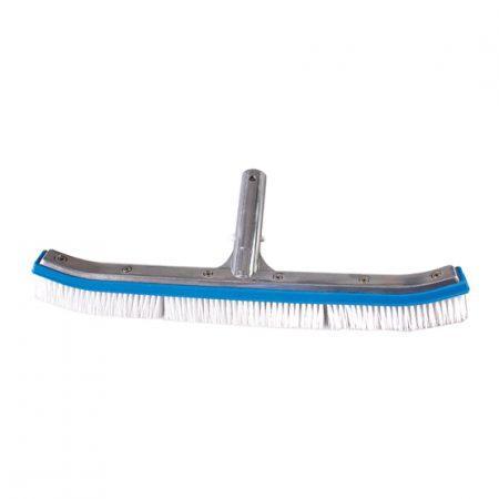 Long curved aluminium brush